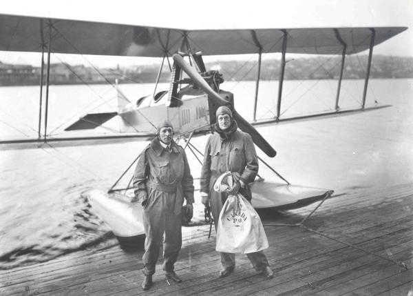 First international mail flight